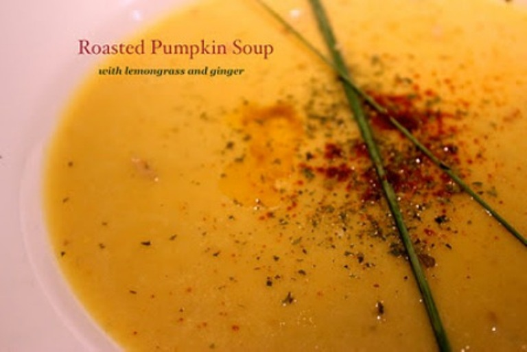 Roasted pumpkin soup with flavours of lemongrass and ginger recipe roasted pumpkin soup with flavours of lemongrass and ginger forumfinder Choice Image