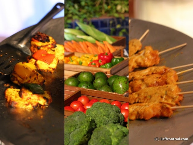 A photo essay of flavours of the world at park plaza hotel saffron paneer mirch ka shoal from the indian grills counter which also has the subji aur badam ka sheek matar ki tikki and mysore bonda fresh vegetables for forumfinder Image collections