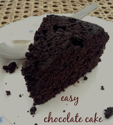 Easy recipe for a simple all purpose chocolate cake saffron trail easy chocolate cake forumfinder Images
