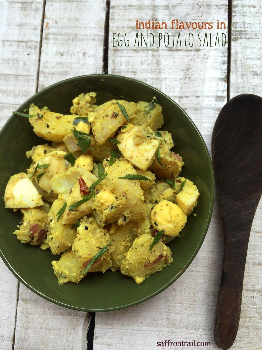 Egg and potato salad with indian flavours recipe saffron for Indian potato recipes for lunch