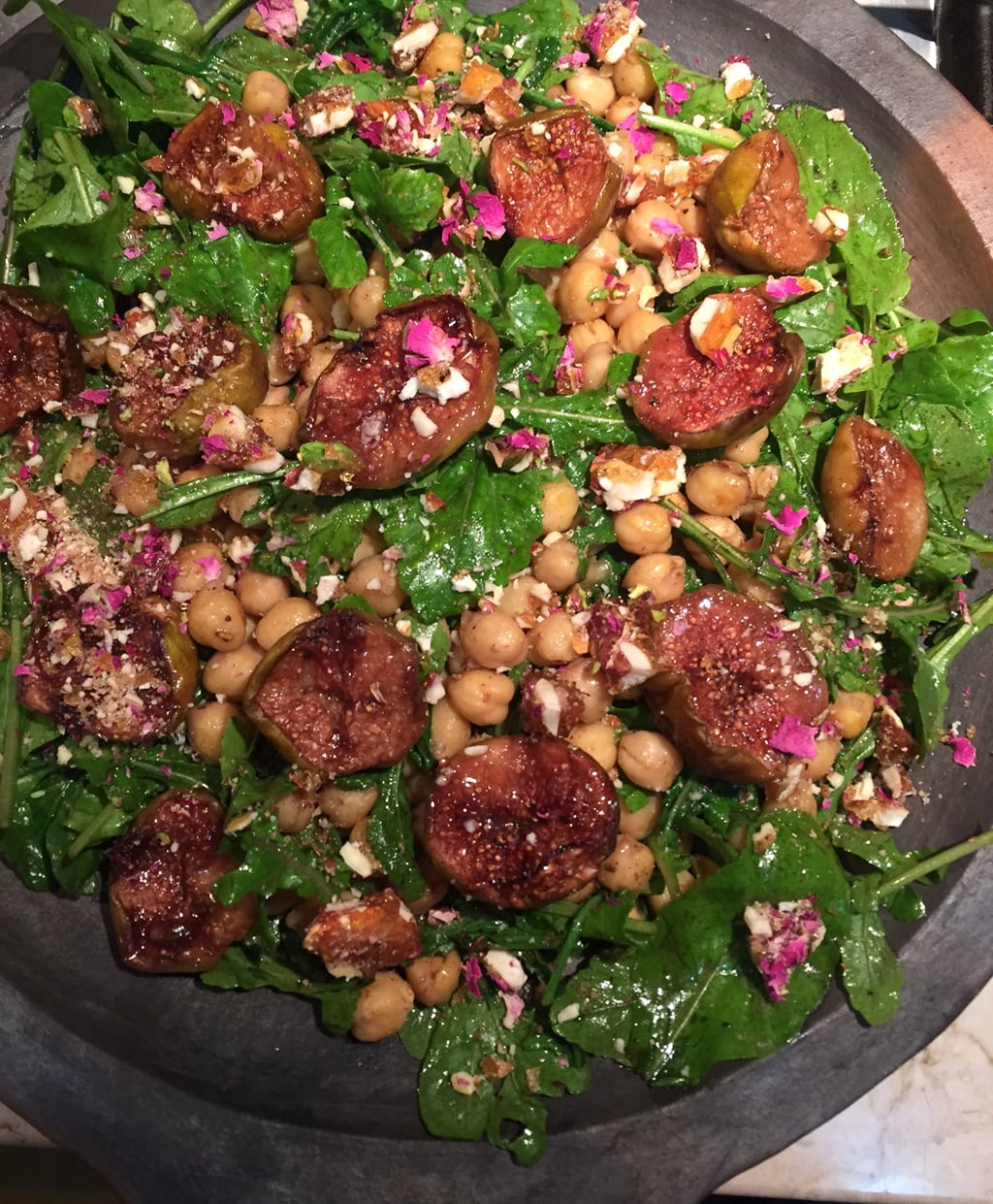 Roasted Figs, Chickpeas and Rocket Salad Recipe | Saffron ...