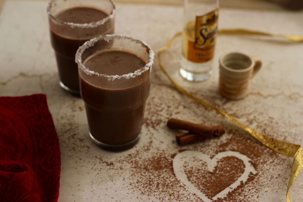 Mexican boozy hot chocolate