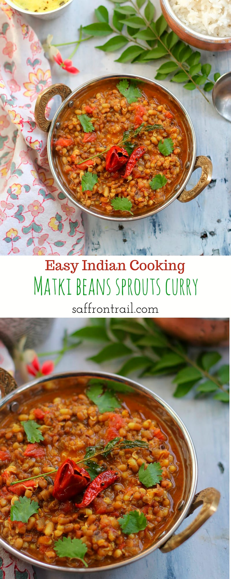 Matki usal indian style sprouts curry recipe saffron trail forumfinder Image collections